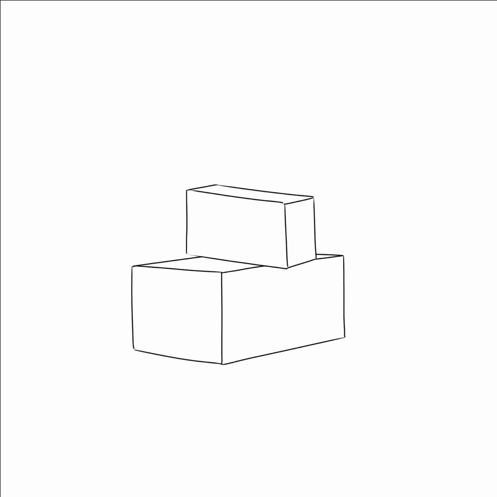 積み重なった箱もやってみよう