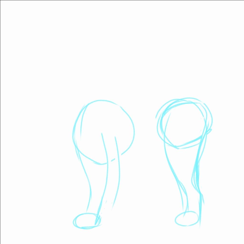 足を生やして接地面を描いておく