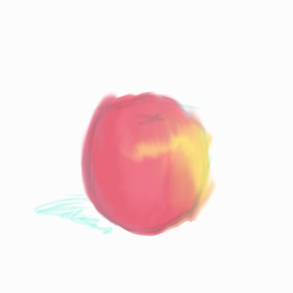 塗った色を消しゴムで形にする