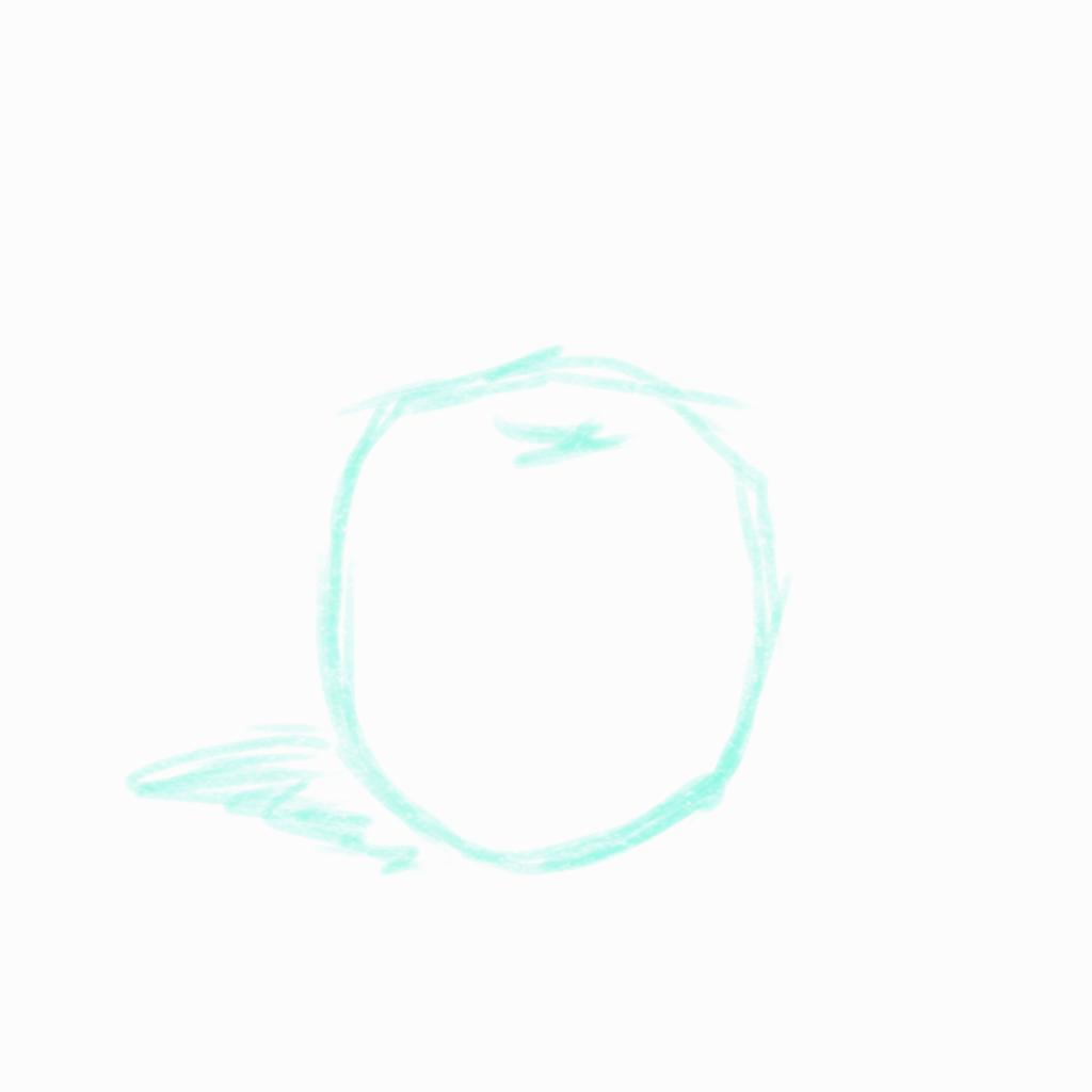リンゴのラフ絵