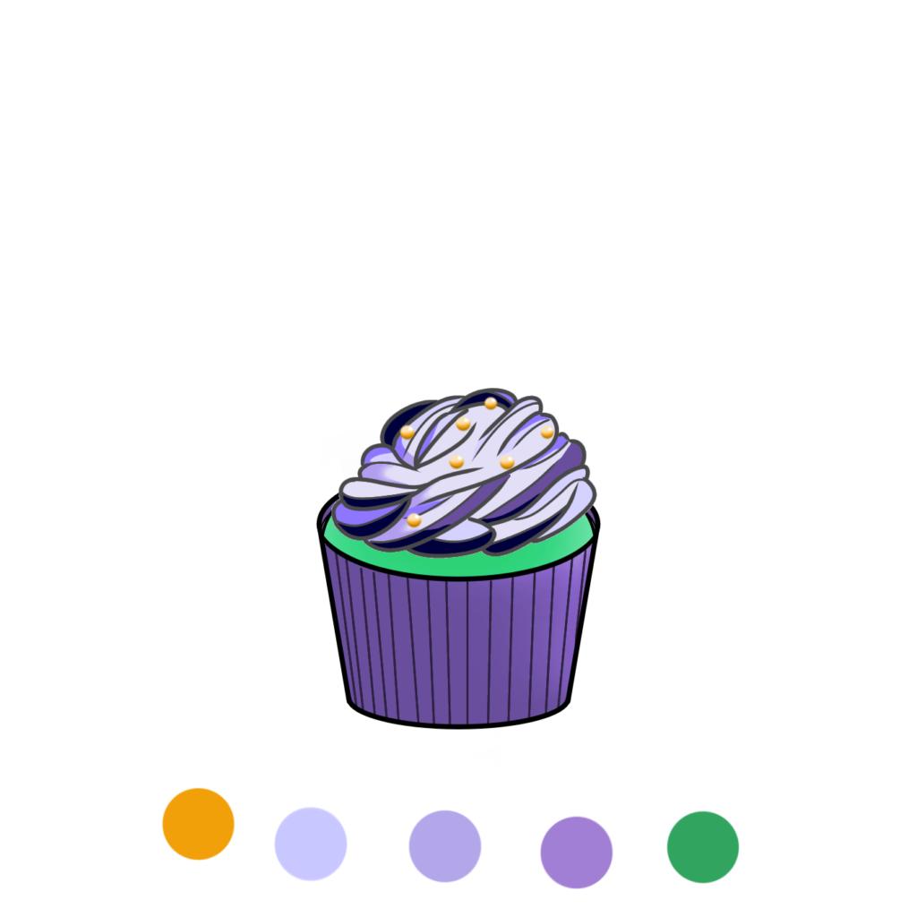 ケーキが鮮やかすぎて怖い