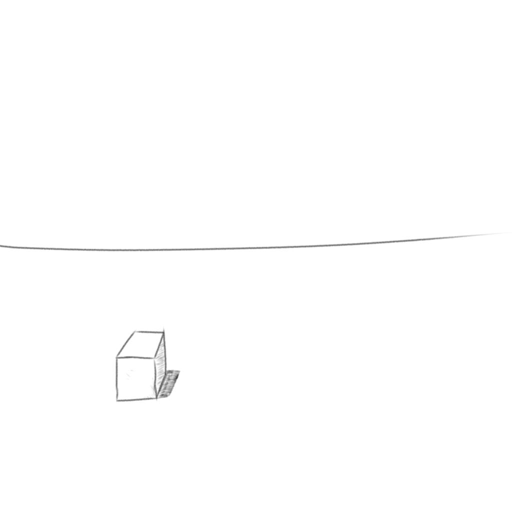 箱1個すら描けない・・・