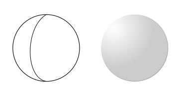 球に見せるための情報