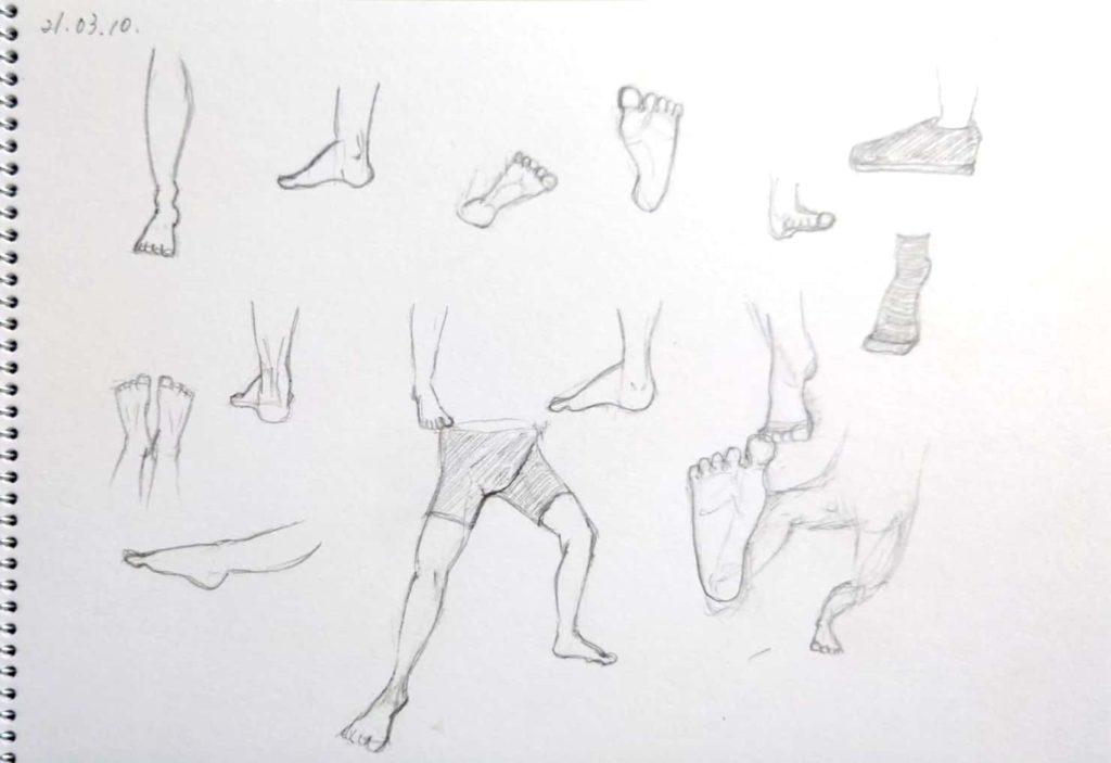 足の練習をしてみよう