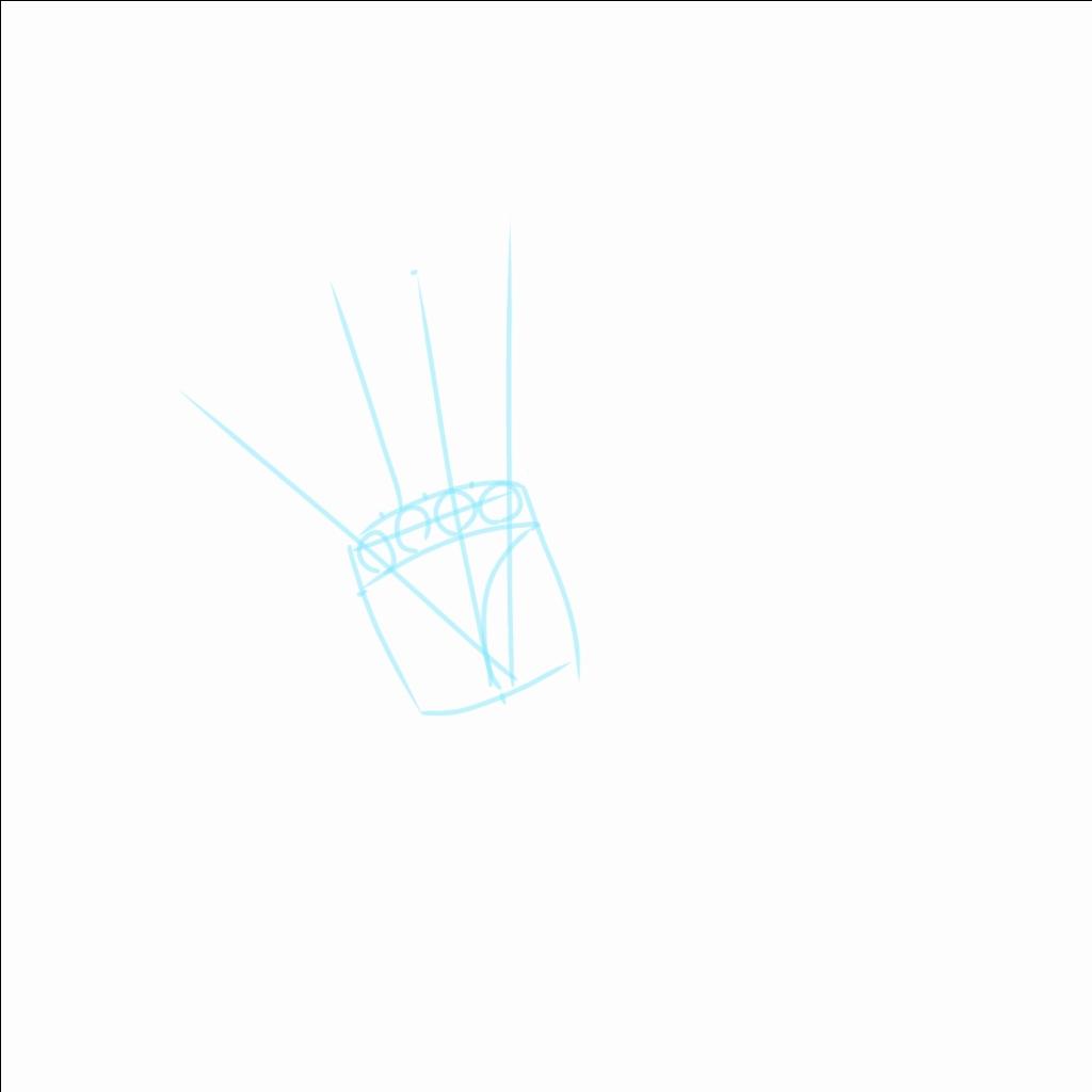 指は放射状に広がっていく