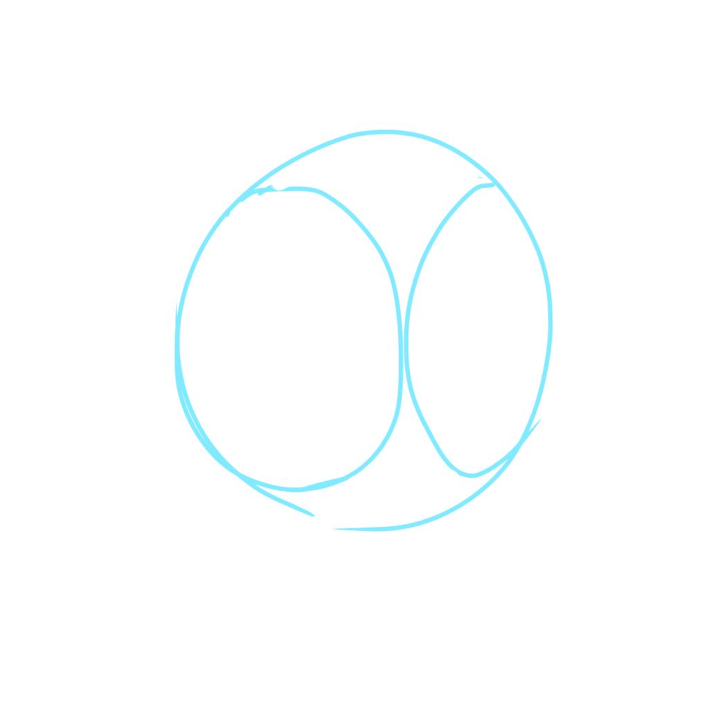 球に2本の円柱が刺さると思えばいい