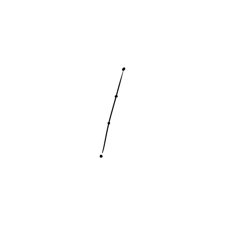 指を伸ばした状態をまずは描く