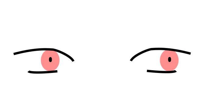 黒目を描く
