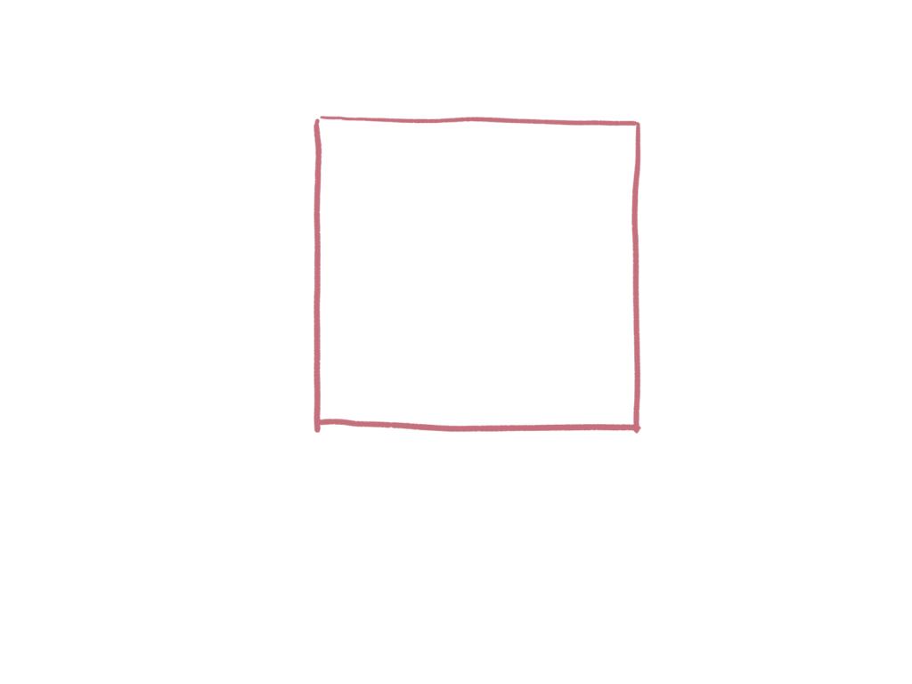 設定後はちゃんと正方形に