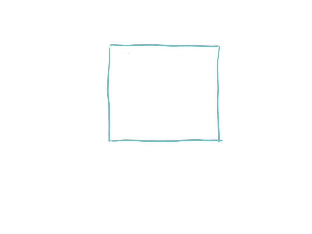 正方形をなぞったのに