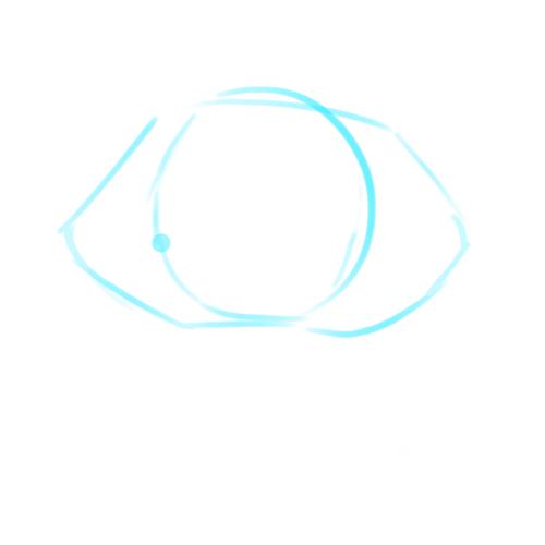 まずは六角形を基準にアタリを描く