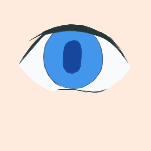 瞳孔を少し細長く
